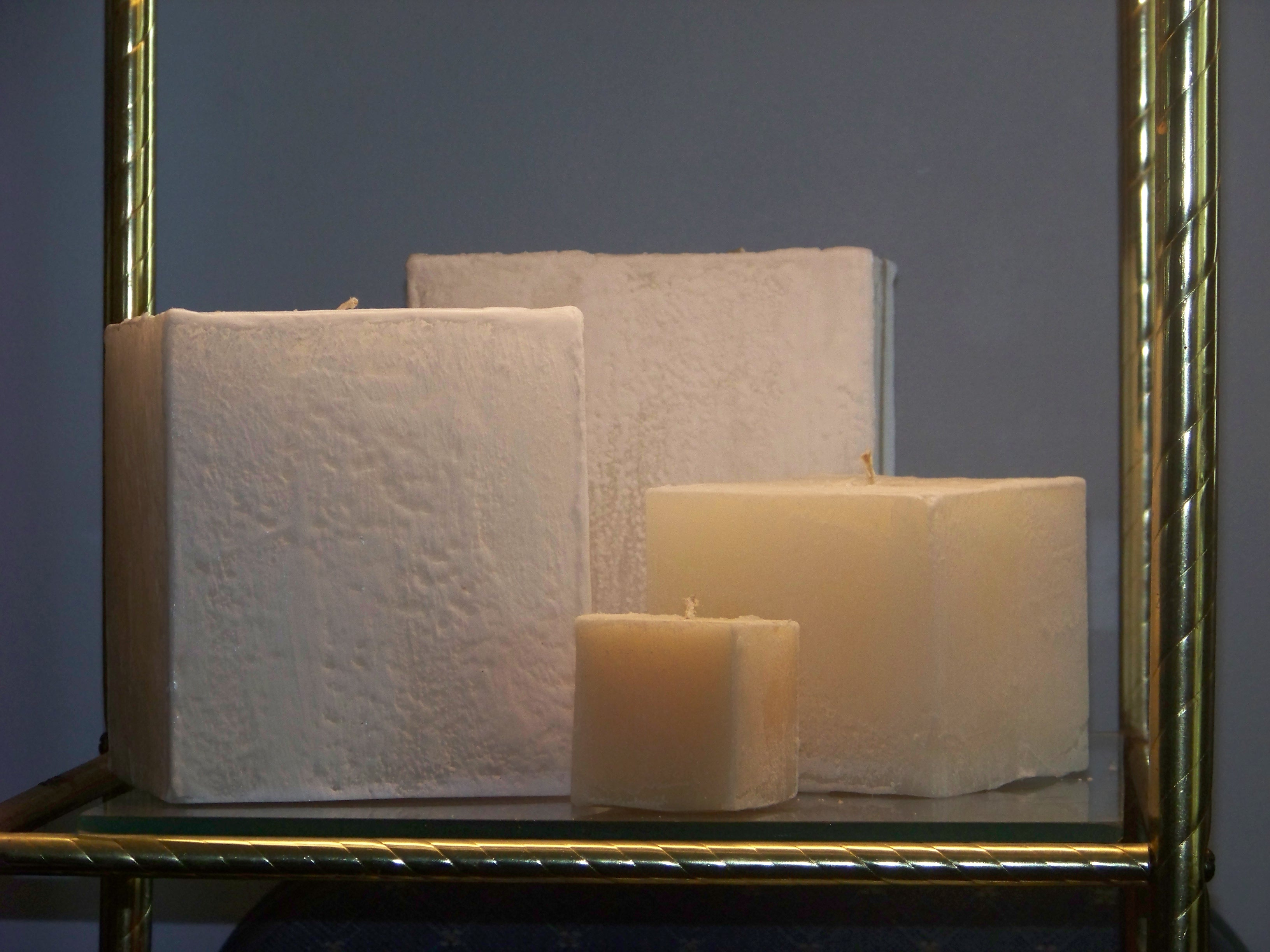 frosted cube candles